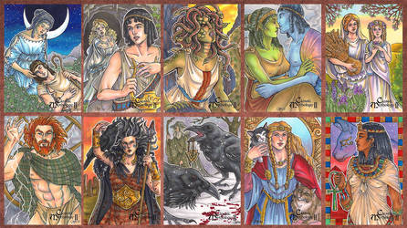 Classic Mythology II Sketch Cards by temiel