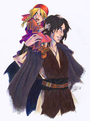 Aran Carrying Saida-COLOR by temiel