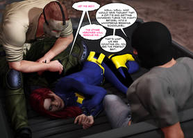 Batgirl Unmasked and Ziptied
