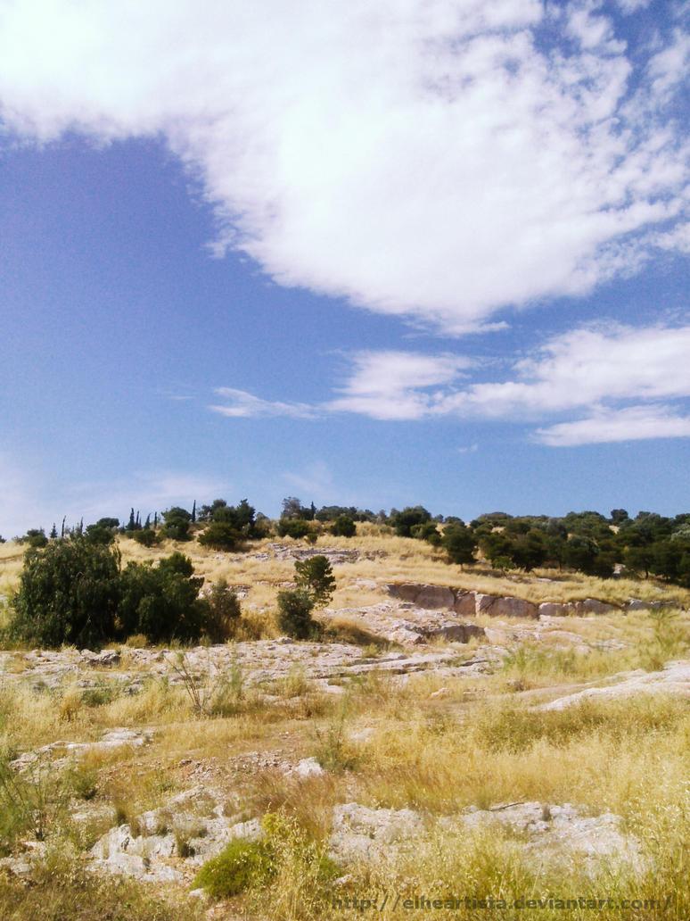 The hill in summer by elheartista
