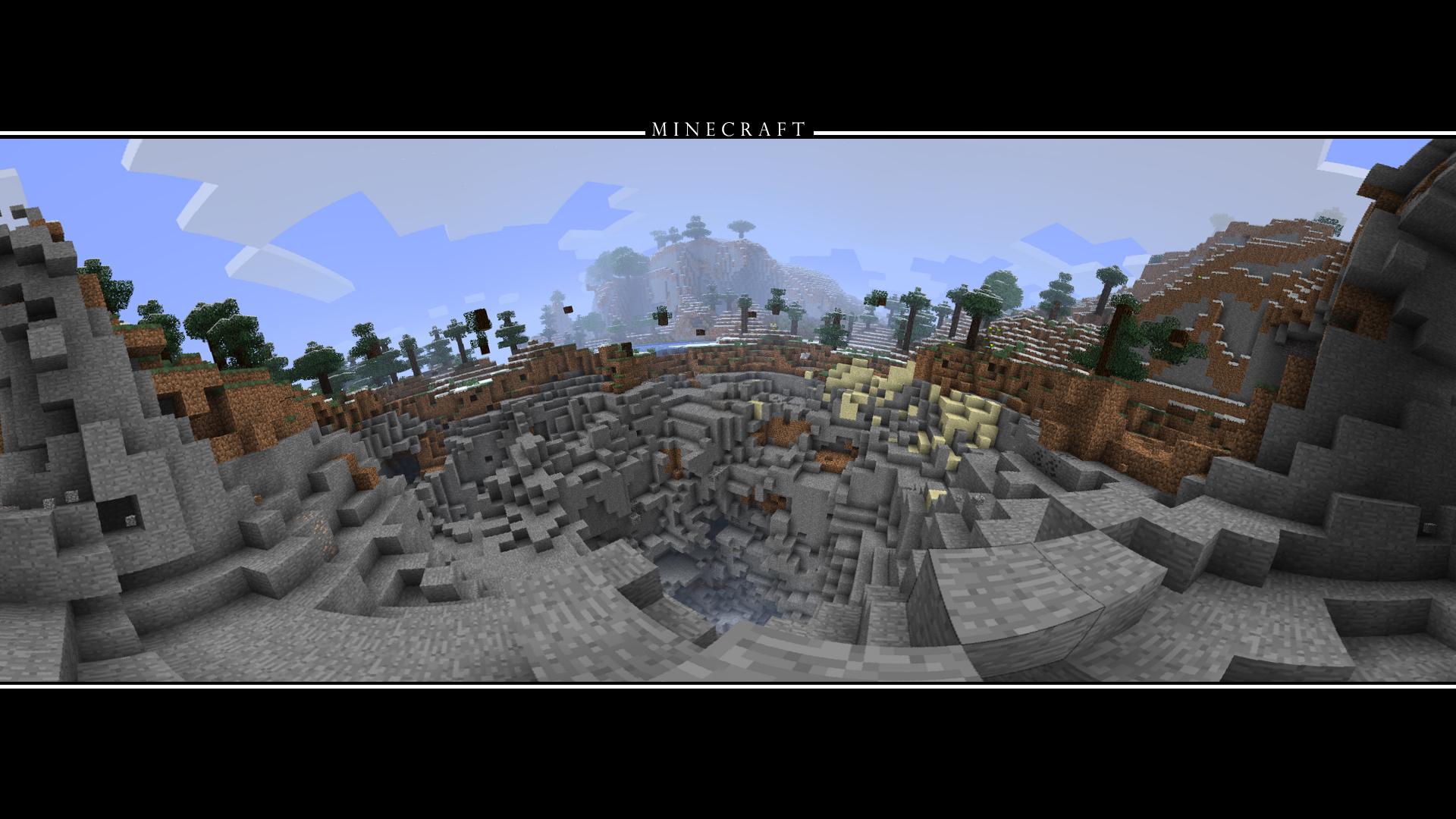 Minecraft Crater Wallpaper HD by drblackjack27