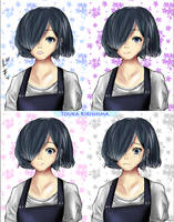 Tokyo Ghoul:re Touka Collage Painting by KingFirejet