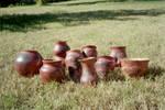 Horsehair Pots by bonniethepotter