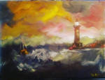 Remnant 1 - Lighthouse on a stormy sea