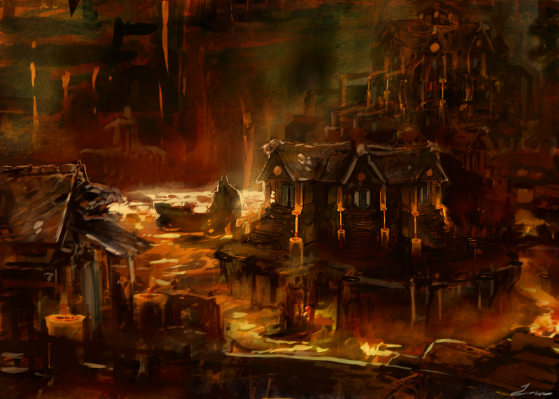 Fire Outcast by NerezaFire