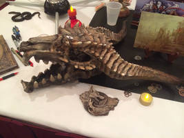 customer photo Dragon skull
