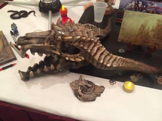 customer photo Dragon skull by NerezaWorks