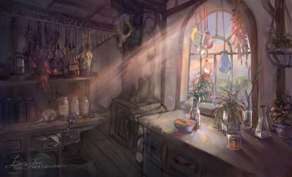 The Humble Apothecary (background) - Commission