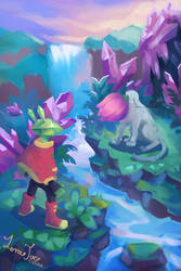 Art Fight - Emerald Rabbit adventures