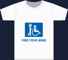 T-shirt: Free your mind by robodesign