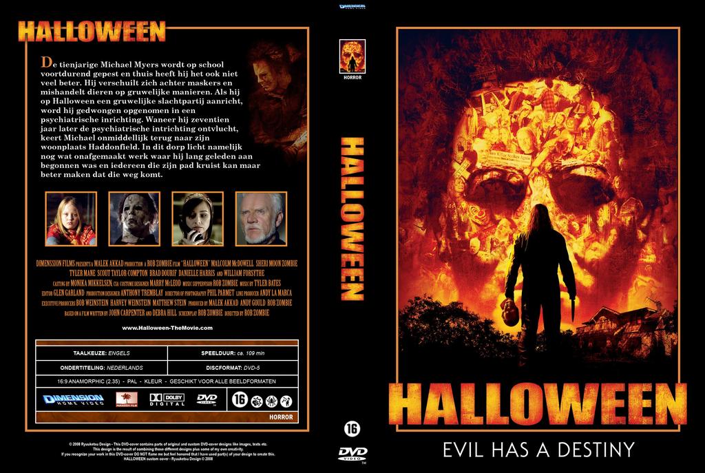 halloween dvd cover by ryuuketsueg