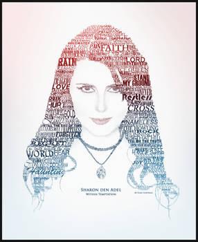 Sharon den Adel Text Portrait