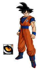 Goku with Kame Emblem Render