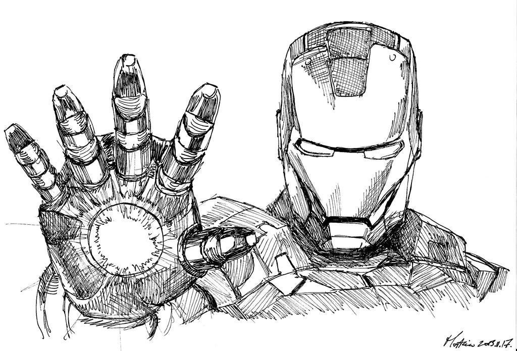 Iron-Man sketch by Stievwaxx on DeviantArt