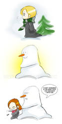 Snowman Draco by LittleNinni
