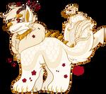 Custom: White and Gold Dragon Cake (Cinnamini)
