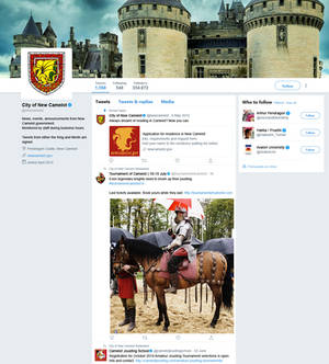New Camelot Twitter profile