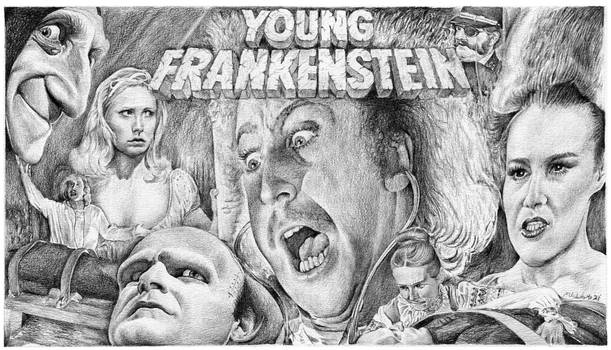 Young Frankenstein poster montage