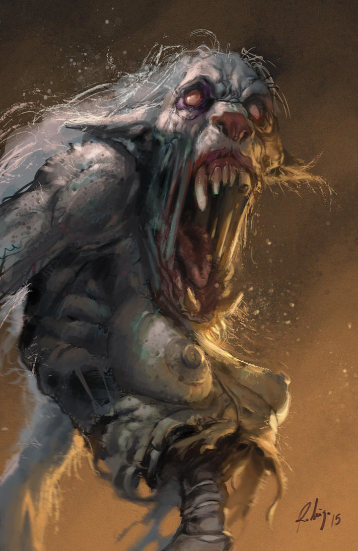 zombie-werewolf by Callibanda