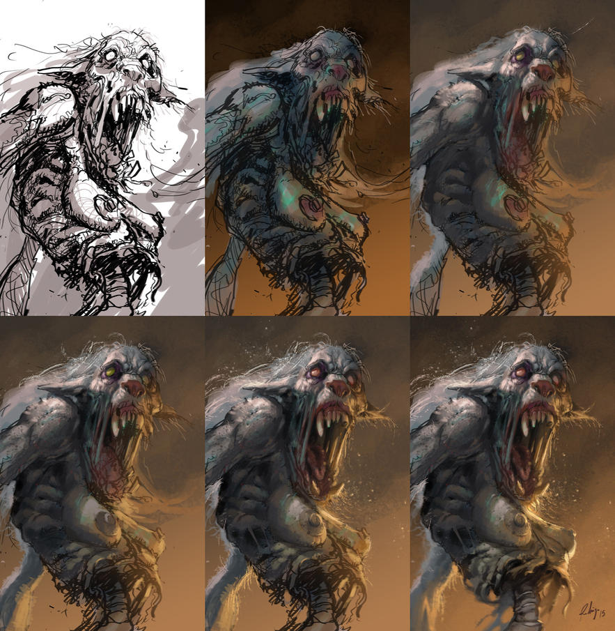zombie-werewolf process by Callibanda