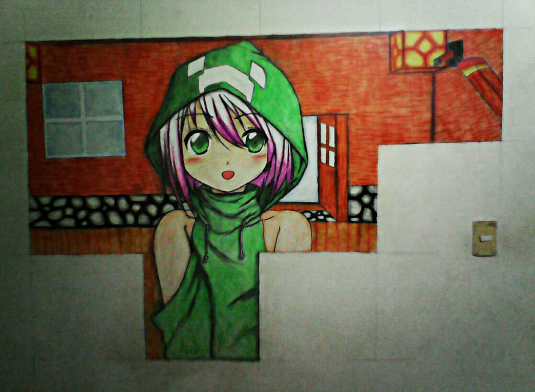 Chica Creeper Mural De Tiza By Campoyo On Deviantart