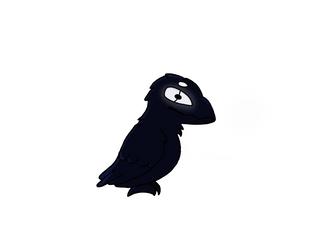 Raven creature by Kriegdichnoch