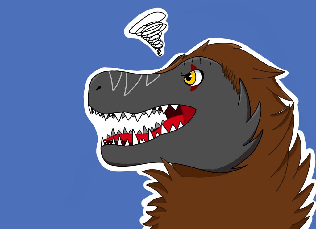 Fluffy Tyrannosaurus Rex by Kriegdichnoch