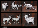 Aluminum foil animals by Reptangle