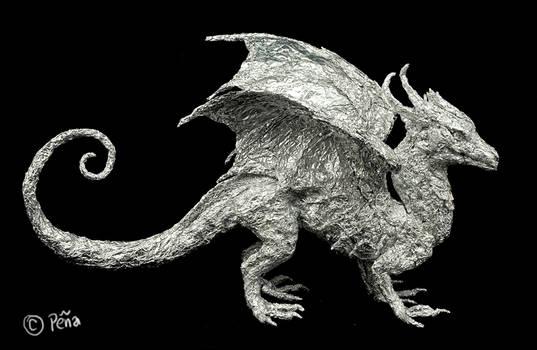 dragon foil sculpture