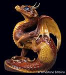 Brown scratching dragon