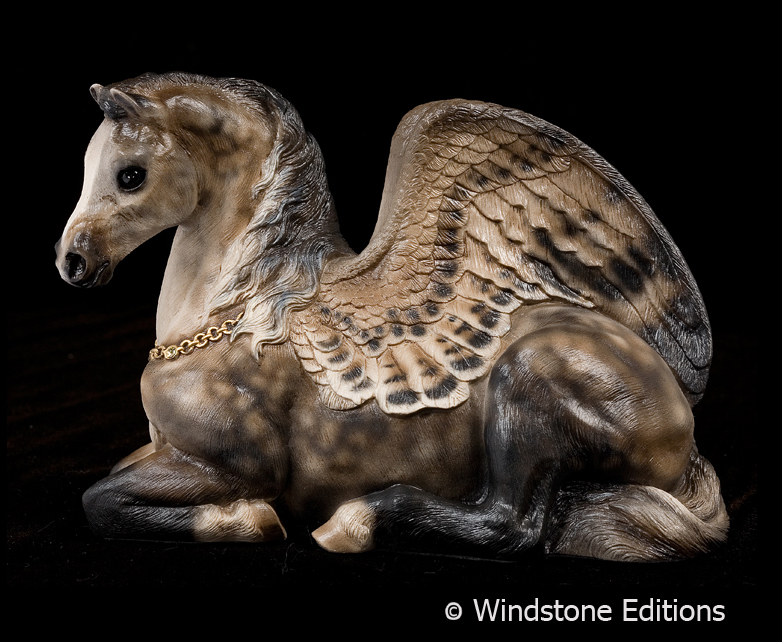 Dapple grey Pegasus mare by Reptangle