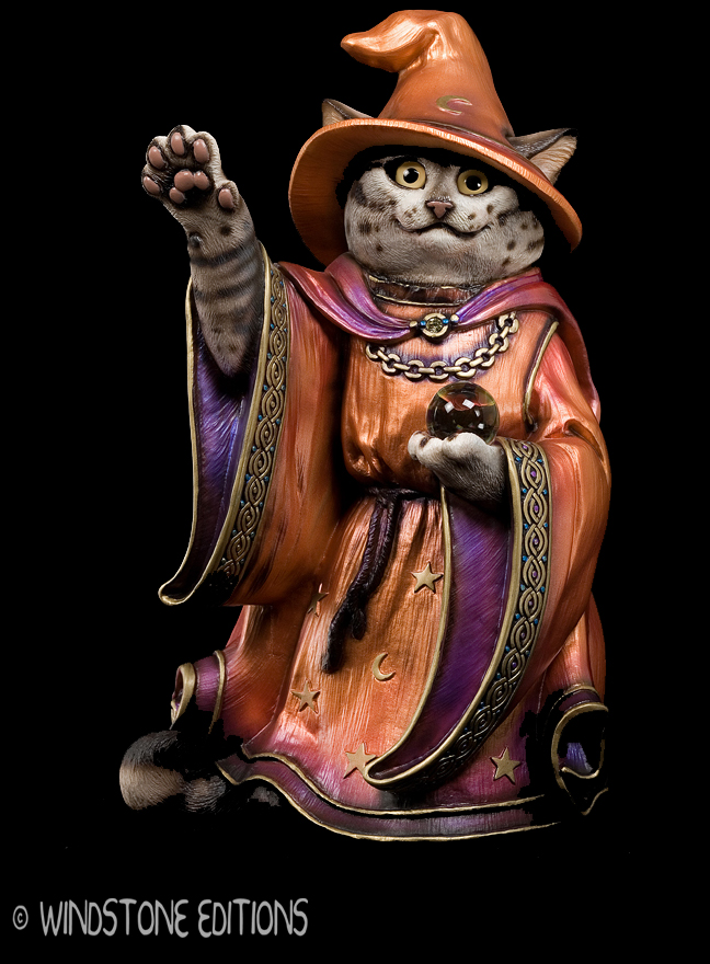 Wizard cat , flame robes by Reptangle