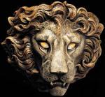 Lion sconce