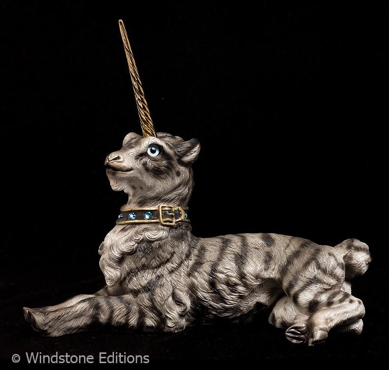 Silver tiger Gothic Unicorn by Reptangle