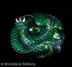 lavender green coiled dragon