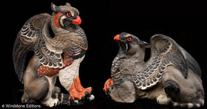Zebra finch griffins by Reptangle
