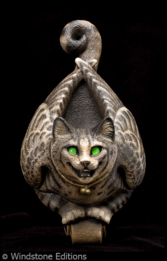 Tabby winged cat sconce by Reptangle
