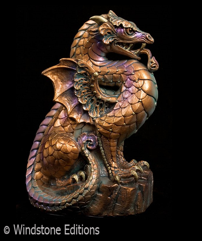 Stone Dragon copper patina by Reptangle