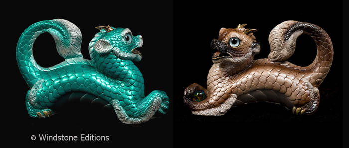 Young Oriental dragons