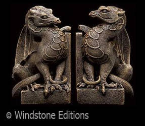 stone dragon bookends
