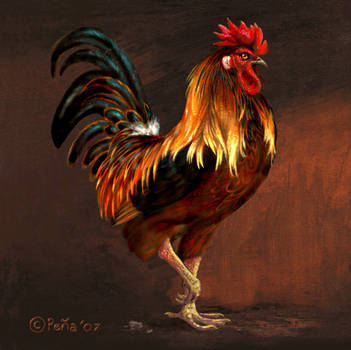 Rooster painting 2