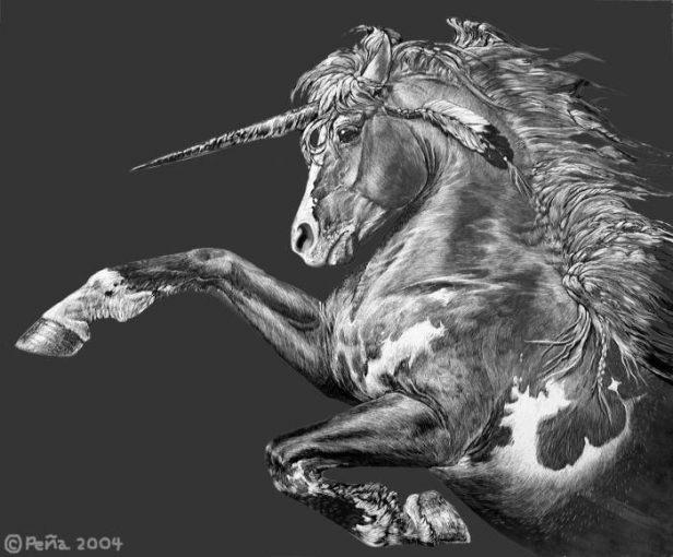 Paint unicorn by Reptangle