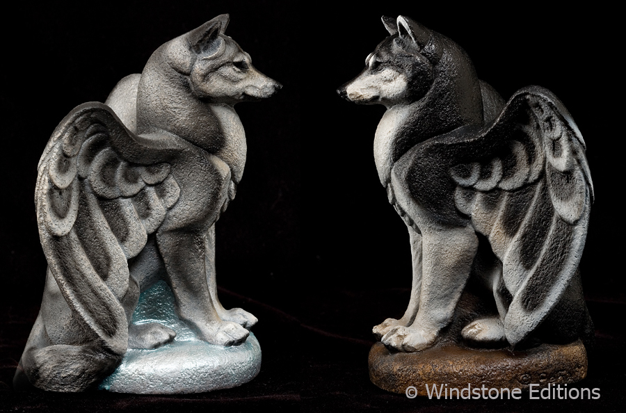 The small spirit wolf gargoyle by Reptangle