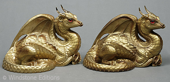 two golden dragons by Reptangle