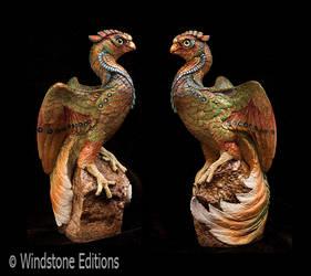 Serpentine Phoenix sculpture by Reptangle
