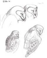 Sleepy Barn owl study by Reptangle