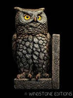 Large owl bookend by Reptangle