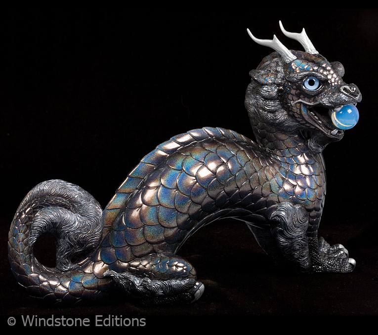 Rainbow Glitter Moon dragon by Reptangle