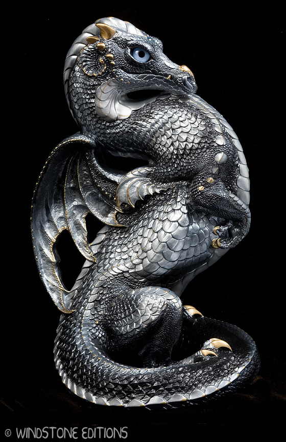 Silver Emperor dragon by Reptangle