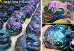 Color shifting curled dragons